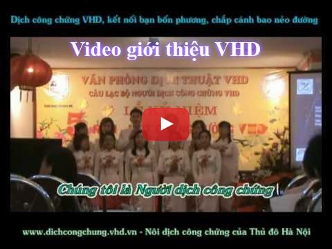 Dịch thuật công chứng VHD
